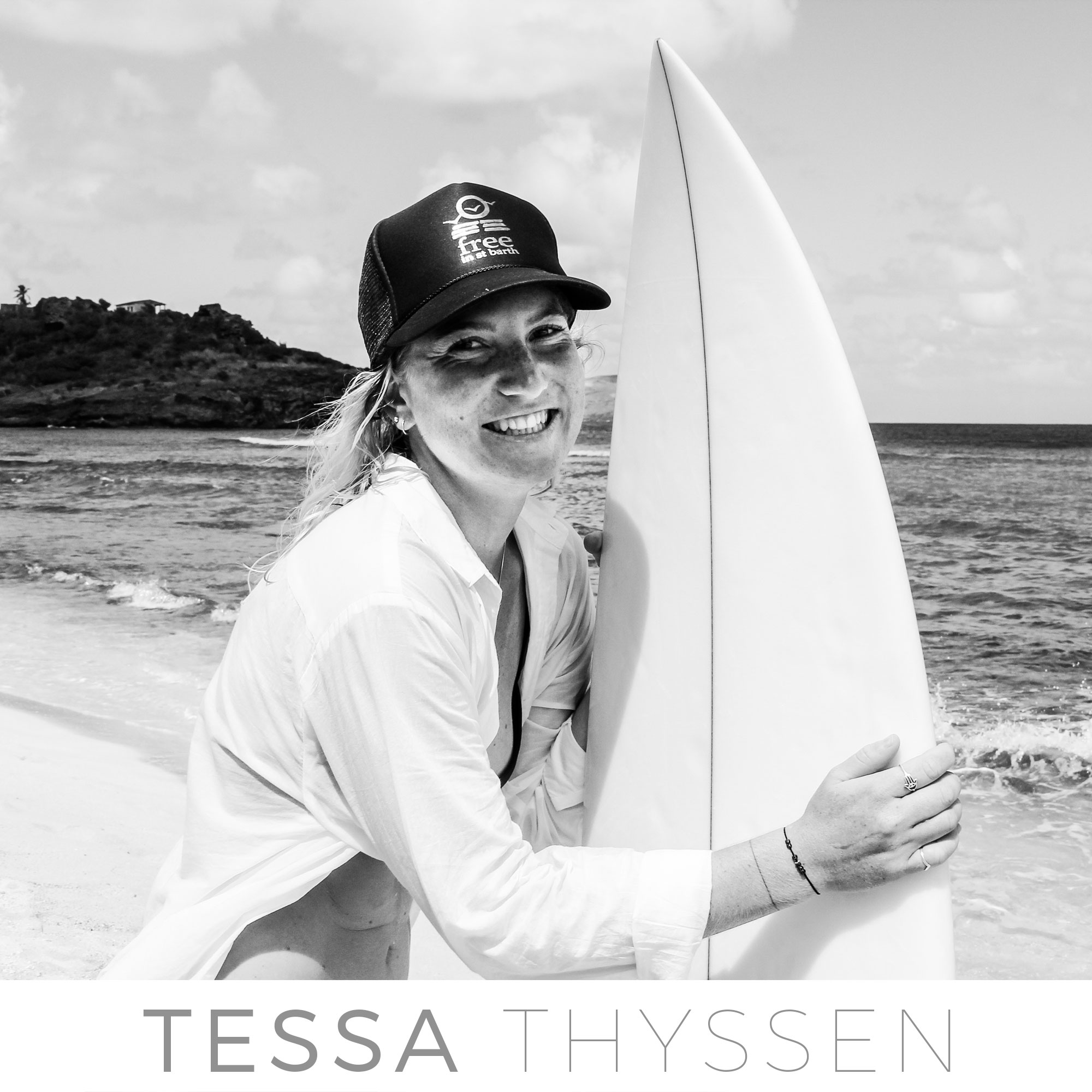 st barth surf team with Tessa Thyssen