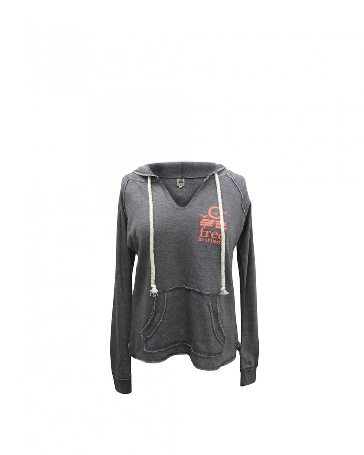 hoodie zipless   women collection   st barts lifestyle   free in st barth