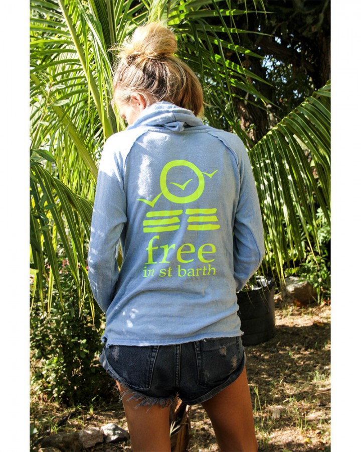 burnout hoodie for women | st barts lifestyle | free in st barth