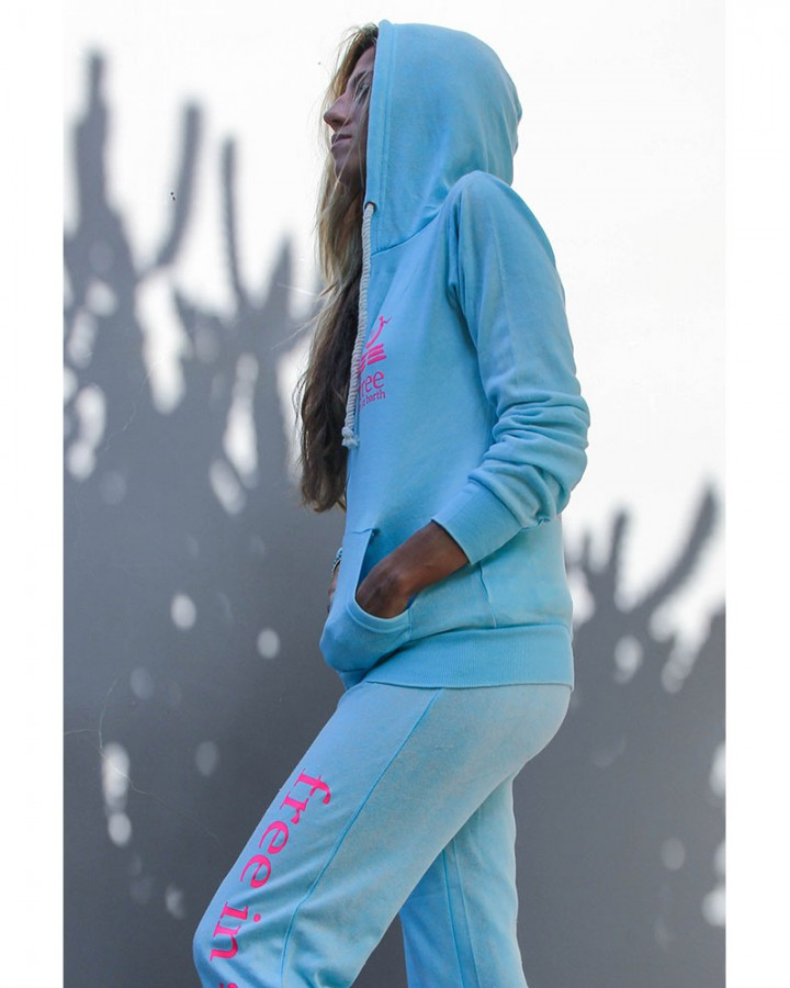 women collection | burnout hoodie and sweatpants | free in st barth