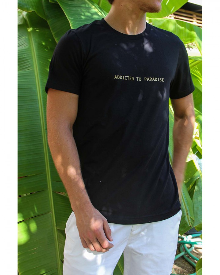 men t shirt | quotes collection | Free in st Barth lifestyle | crew neck tee | st barts