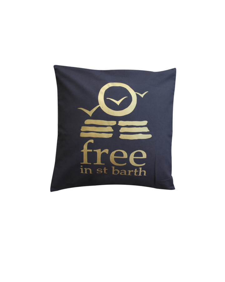 stuff   pillow   cushion case gold   free in st barth