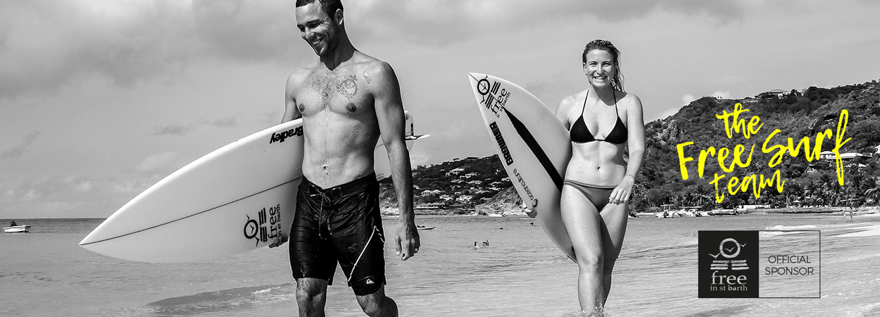 Free surf team | surf in st barth | Free in st barth