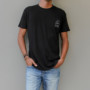 JAC 2K TEE black-white front FREE IN ST BARTH