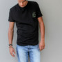 JACK TEE black-yellow front FREE IN ST BARTH