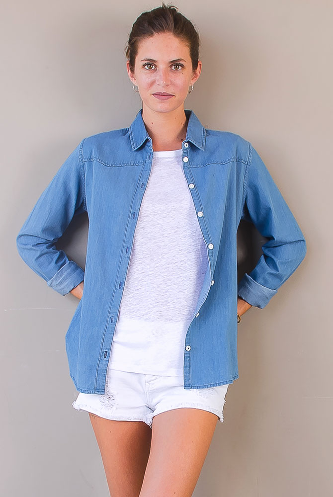 denim shirt   women collection   st barts lifestyle   free in st barth