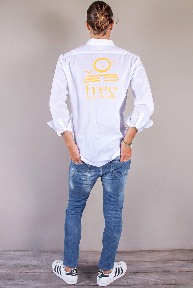 shirt embroidery | men collection | free in st barth