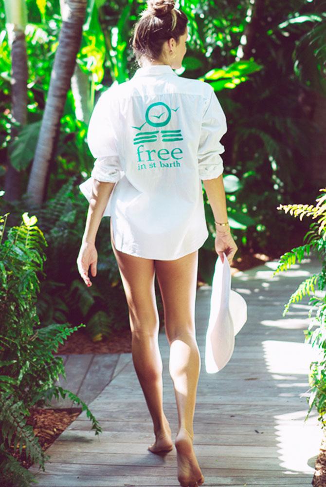 boyfriend morgan shirt | women collection | free in st barth