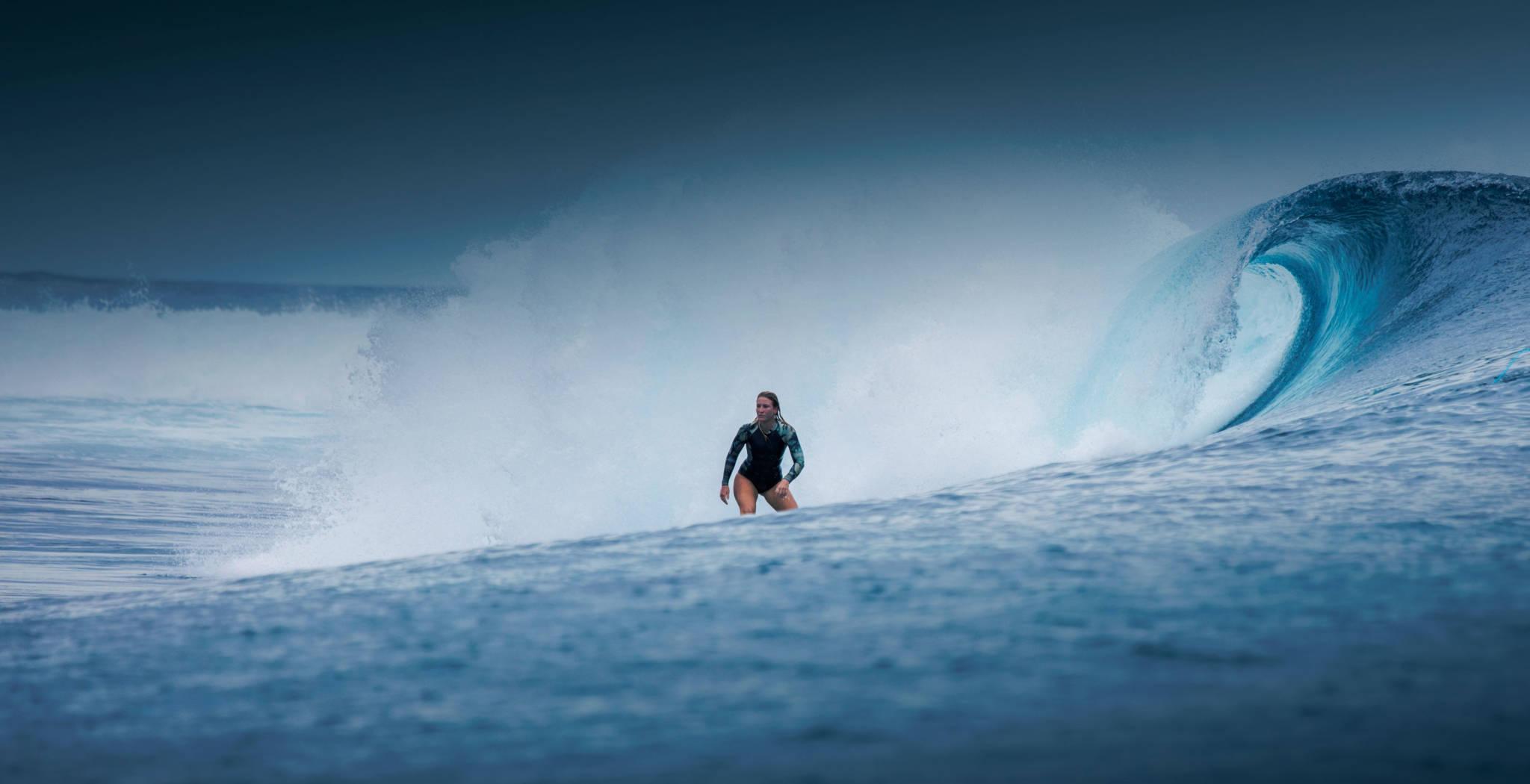st barth surf team with Tessa Thyssen