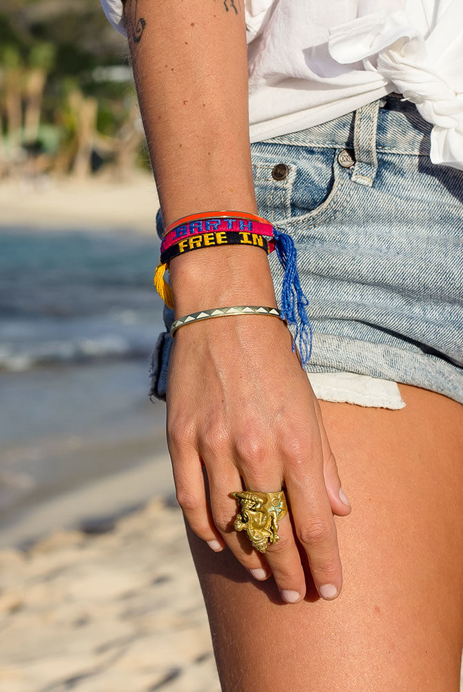 bracelet cotton | free in st barth