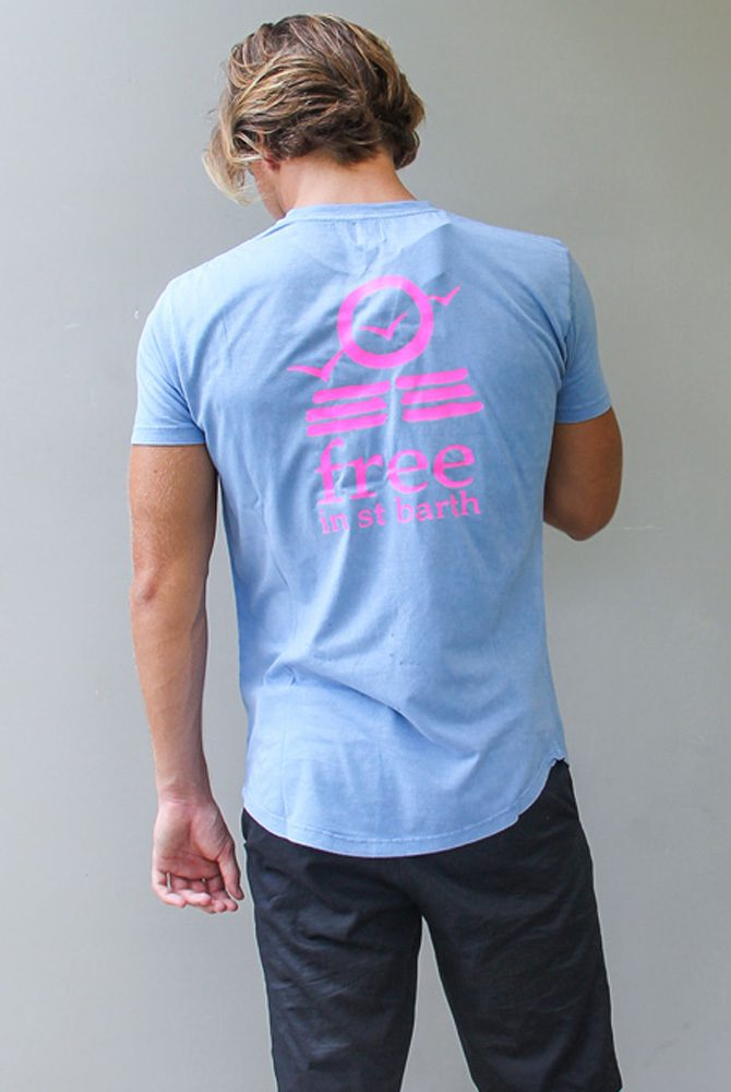 cneck tee | free in st barth | st barths fashion men