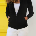 cashmere zip hoodie   women collection  free in st barth