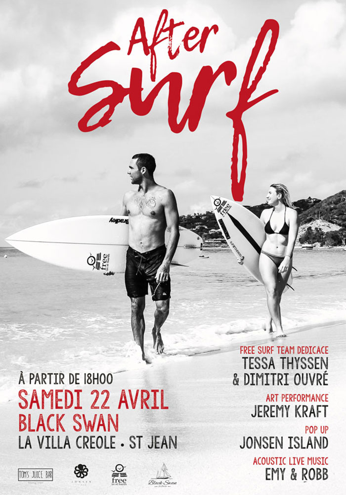 after surf | black swan | free surf team | free in st barth