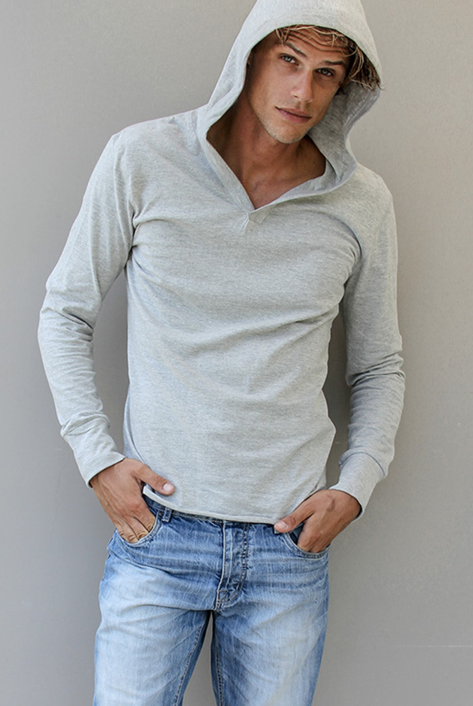 milo zipless hoodie | men collection | free in st barth