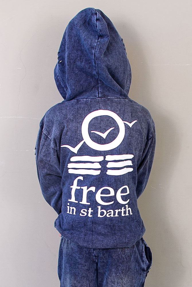 free in st barth | hoodie vintage | kids collection