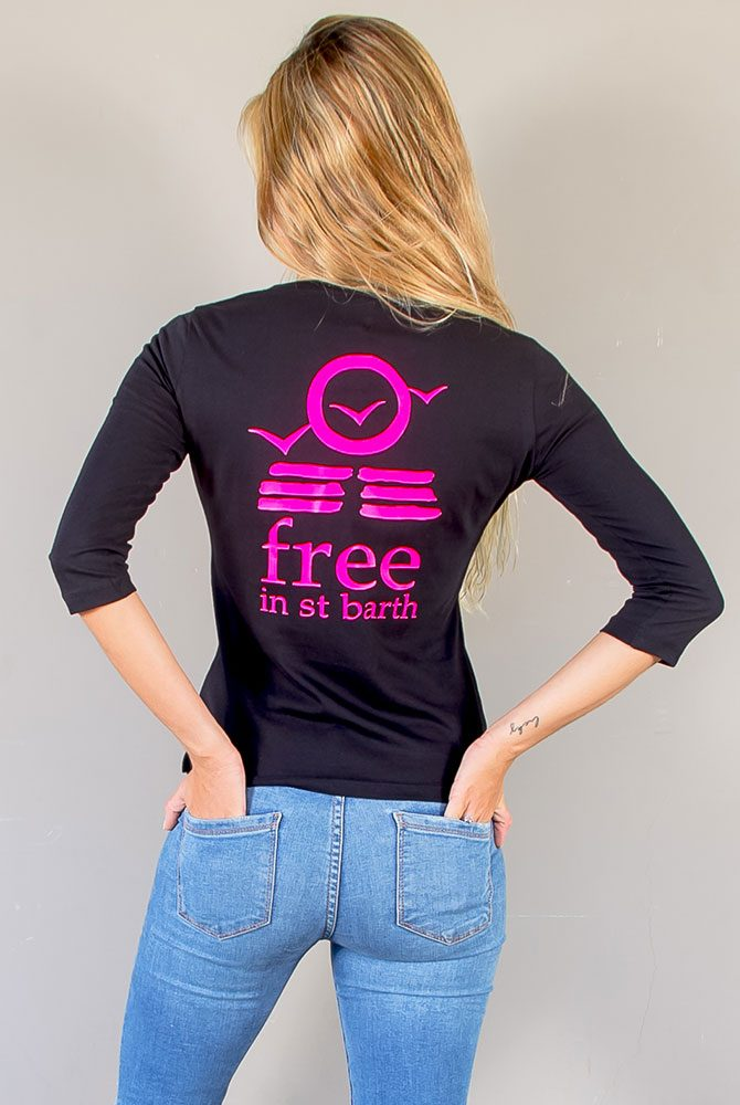 3/4 sleeve tee   women collection   FREE IN ST BARTH