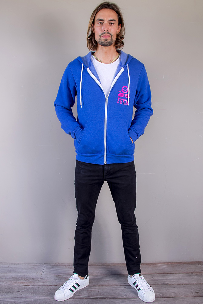 cameron zip hoodie   unisex collection   free in st barth