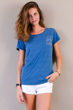 short sleeve tee | women collection | denim | free in st barth