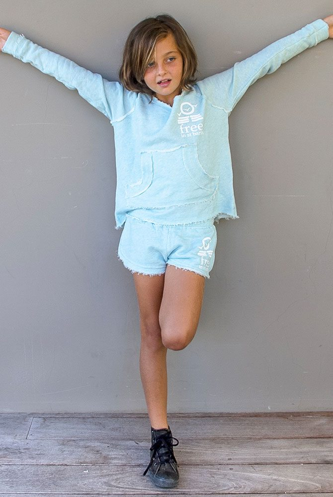 daria zipless hoodie | kids girl collection | free in st barth
