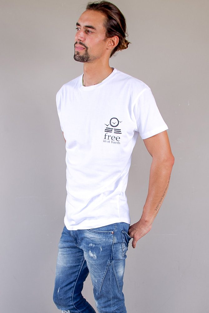 hugo t-shirt   crew neck tee collection   men collection   free in st barth