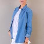 denim shirt   women collection   free in st barth