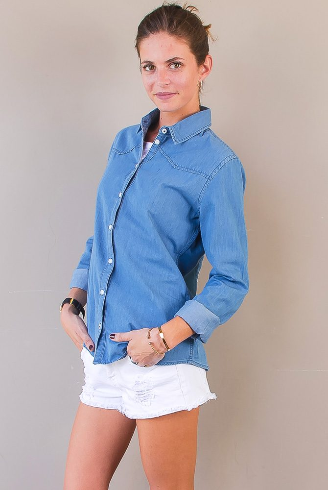 denim shirt | women collection | free in st barth