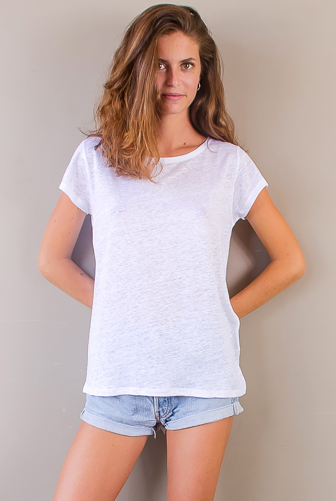 short sleeve tee | linen collection | women collection | free in st barth