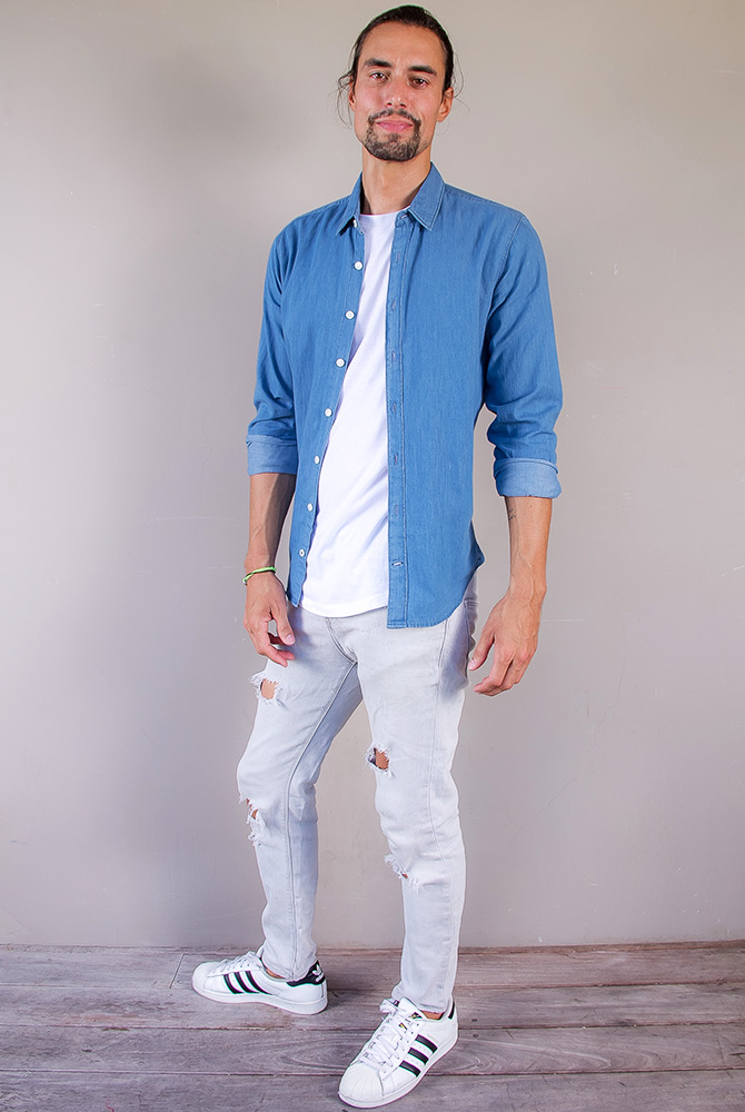 denim shirt | men collection | free in st barth