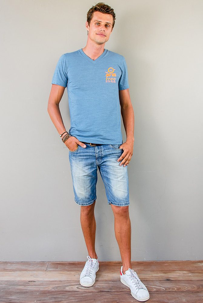 PETER VNECK TEE | Men Collection | FREE IN ST BARTH