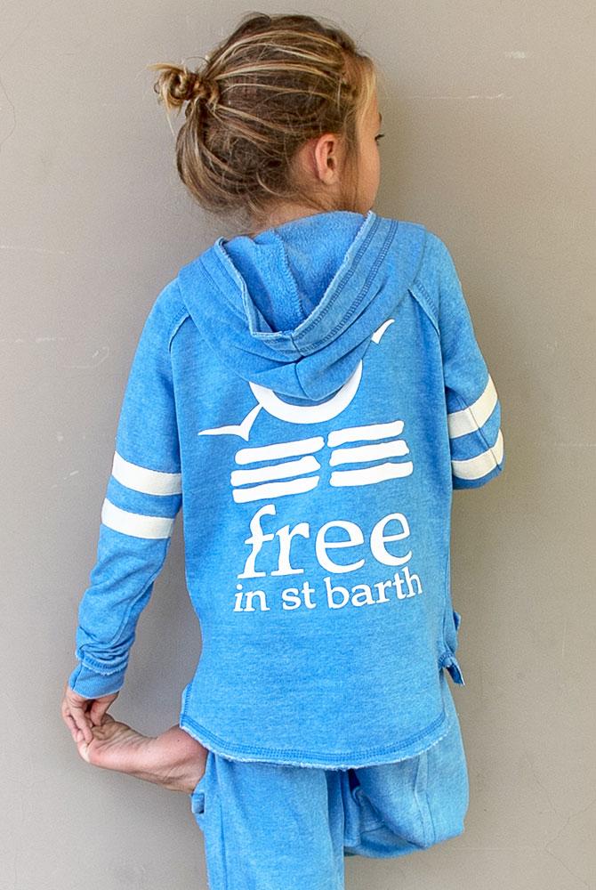 kids hoodie | zipless | free in st barth
